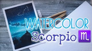 WATERCOLOR Scorpio