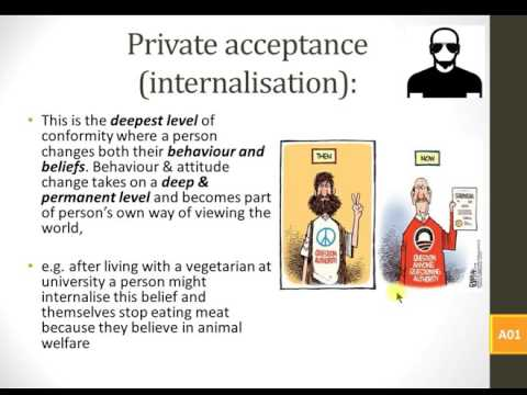 Lesson 1 Social influence   Types and explanations of conformity 2