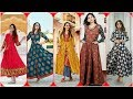 Trendi Cotton Linen Long Maxi Dresses //Long Frock Kurti Design