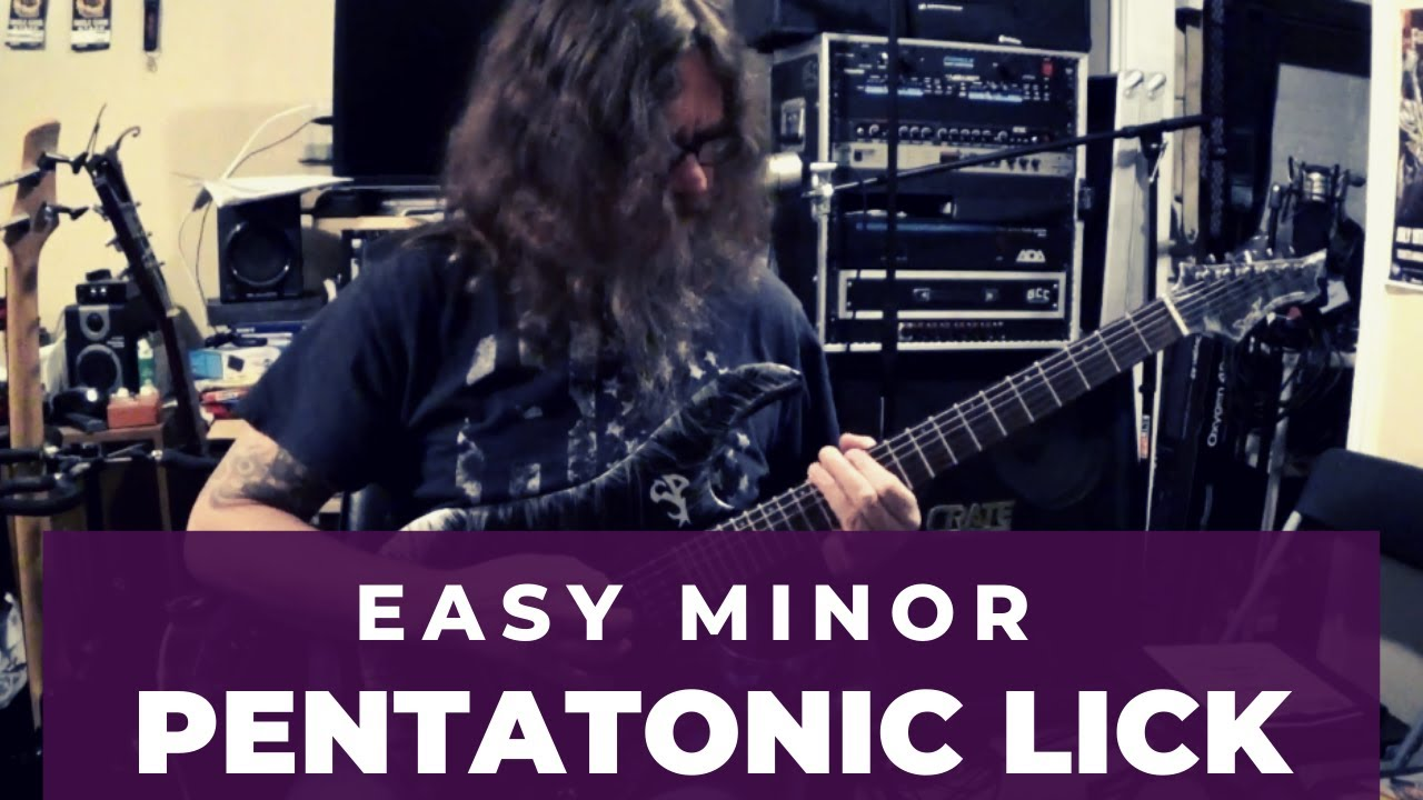 Quick And Easy Minor Pentatonic Lick (Lead Guitar Lesson on Pentatonic Licks)
