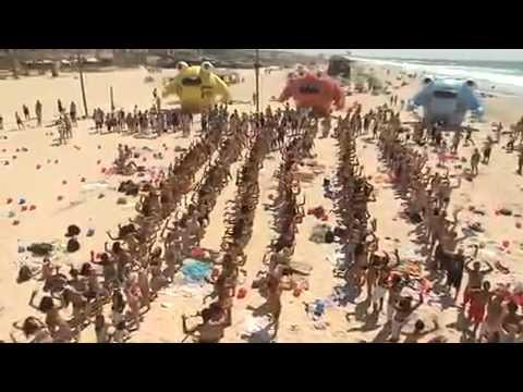 Крутой флэшмоб на пляже