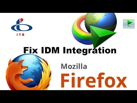 How to Fix IDM Integration with Firefox 2018 | IDM integration for Firefox