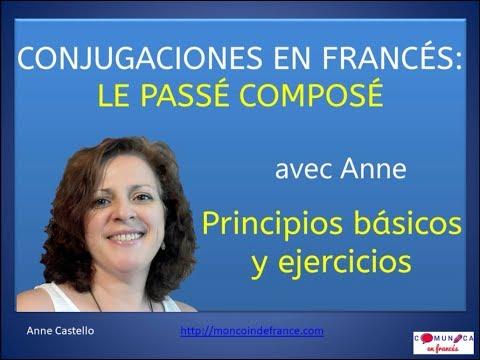 Ejercicios en franc s conjugaciones el pass compos for En y frances ejercicios
