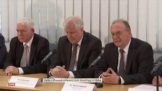 Pressekonferenz U.a. Mit Seehofer Und Haseloff Zum Attentat In Halle
