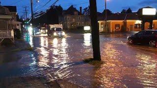 Heavy rain floods roads in Uniontown