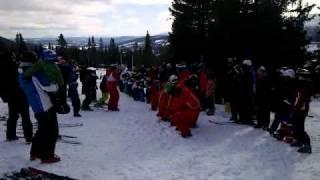 Ski school kids vs teachers in Åre