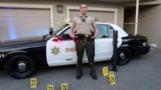 Steve Crest Police Movie Car and 3 of 20 uniforms available.  LAPD Sheriff SWAT Cop MovieCop P71