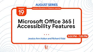 Microsoft Office 365 Accessibility Features