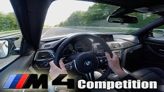 BMW M4 Competition F82 TOP SPEED & ACCELERATION 0-285 km/h Autobahn Test Drive