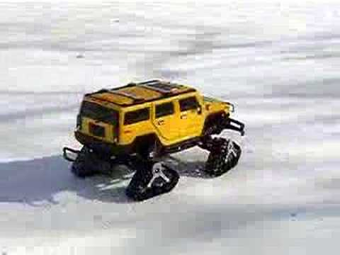 Radio Controlled Hummer On Snow Ice Youtube