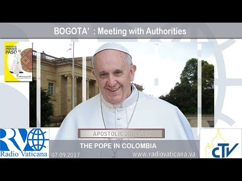 2017.09.07 Pope Francis in Colombia – Meeting with Authorities