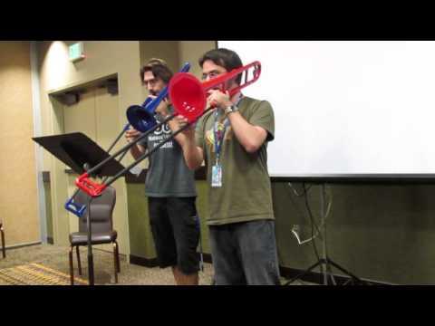 Colossalcon 2013 karaoke - Trombone duo