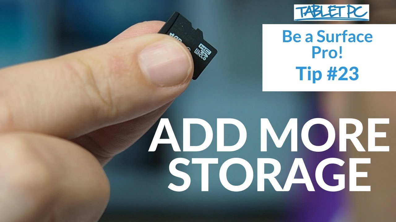 Ordinaire Add More Storage To Your Surface Pro