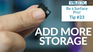 Be a Surface Pro! Add More Storage to your Surface Pro 4
