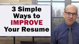 3 Reasons Why Your Resume is WEAK and How to FIX