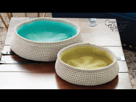 How To Crochet A Basket Color Pop Baskets Bowls