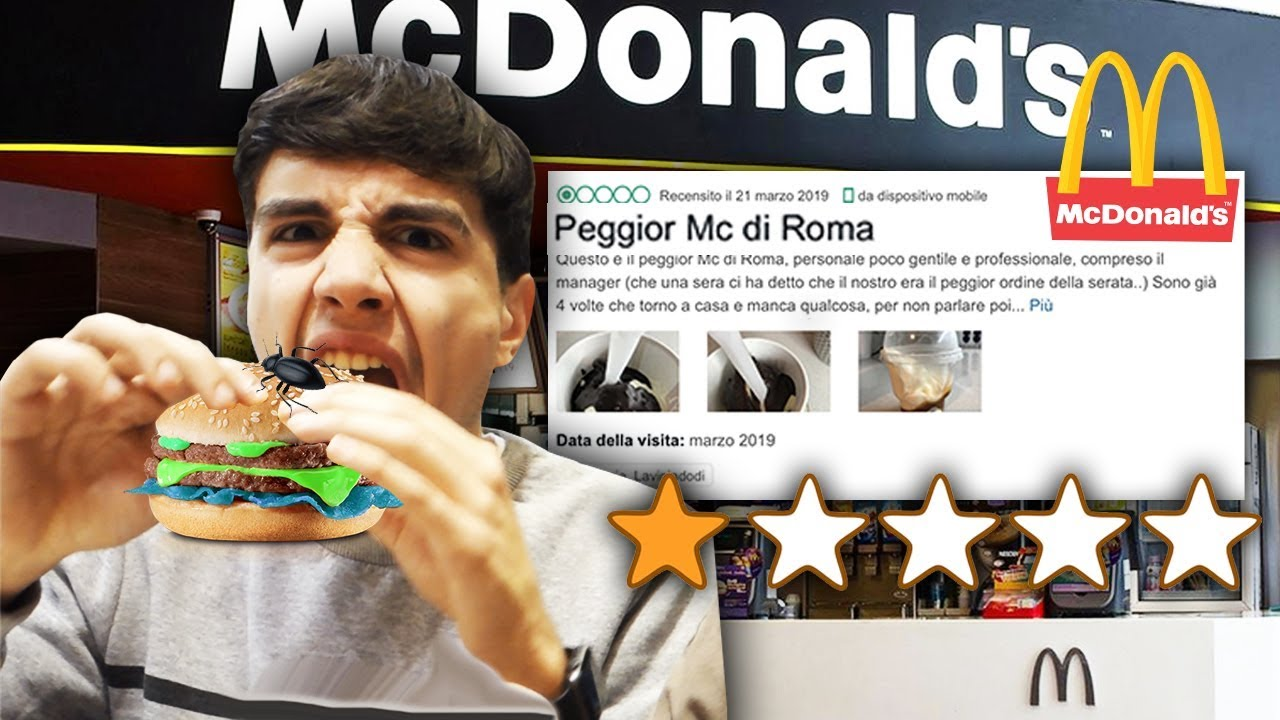 ???????? HO PROVATO IL PEGGIOR McDONALD'S DI ROMA e HO TROVATO QUESTO...