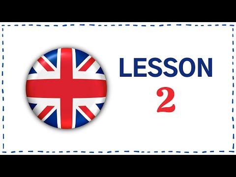 Kurz angličtiny pro samouky: Lekce 2