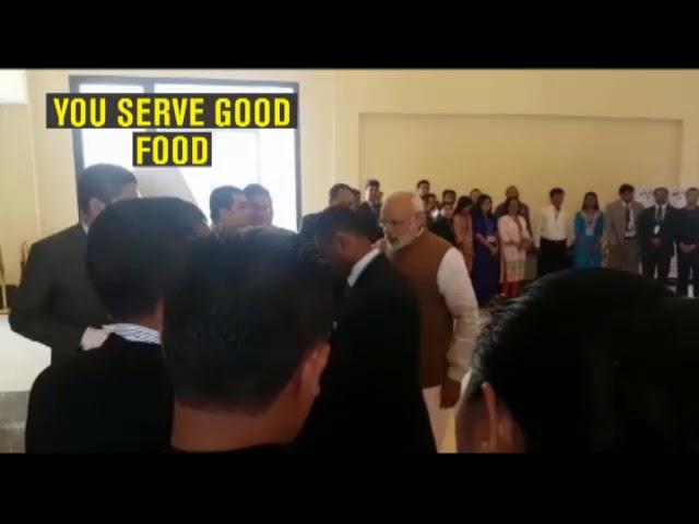 Watch: PM Modi greets hotel staff before leaving to meet Suu Kyi