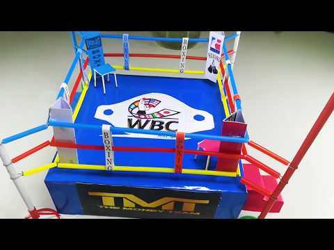 Cartoon and Paper Art and | How to Make a Boxing Ring at Home!