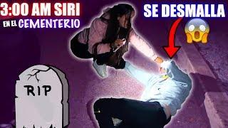 JUGAMOS 3AM SIRI EN EL CEMENTERIO | RETO PARANORMAL (Termina mal)