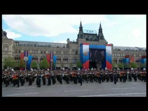 Massive show of military might in Russia