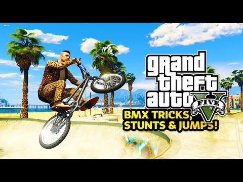 GTA 5 Online - BMX STUNTS! Epic BMX Tricks & Jumps in GTA On
