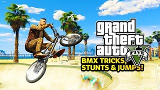 GTA 5 Online - BMX STUNTS! Epic BMX Tricks & Jumps in GTA Online! (GTA 5 PC Gameplay Online)(GTA 5 BMX stunts in GTA Online free roam! GTA 5 funny moments livestream with the Stream Team! Epic GTA 5 stunts! :) ▻ Help Me Reach 1500000 ..., 2015-05-02T03:32:17.000Z)