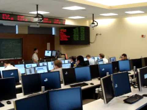Virtual Pan of Ithaca College Business School Trading Room