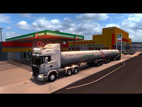 Doble Remolque Tanques Praxair | Scania Streamline de Moctezuma, Sonora a Tucson Arizona