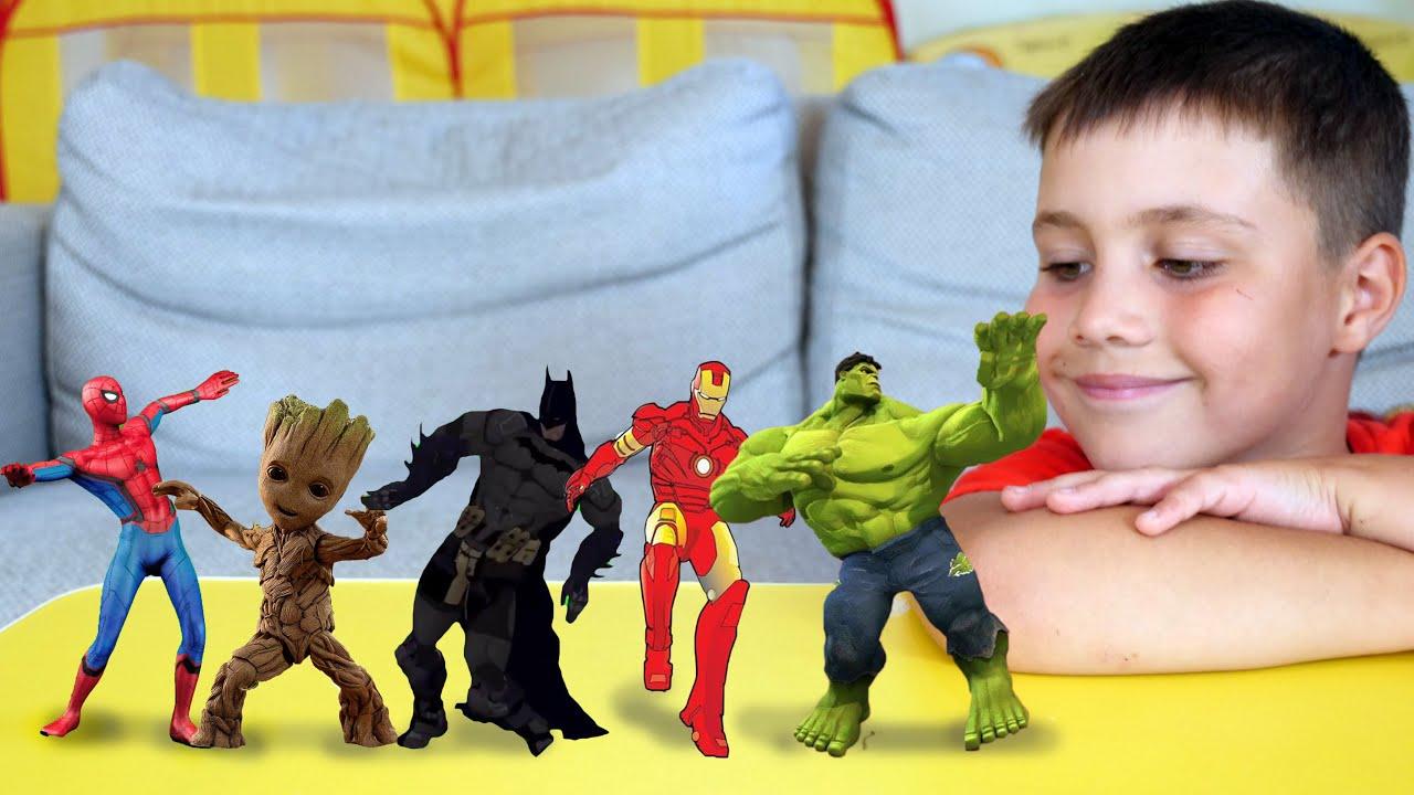Superheroes Dance with Ed and Olivia 색칠공부를 하면 슈퍼히어로랑 신나게 춤을 춘다고 헐크 스파이더맨 캡틴 아메리카 배트맨