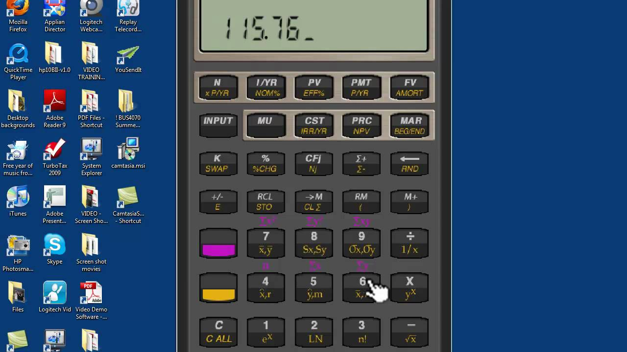 Financial Calculator Part 2 Basic PV and FV YouTube – Financial Calculator