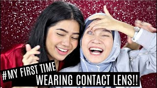 MY FIRST TIME WEARING CONTACT LENS