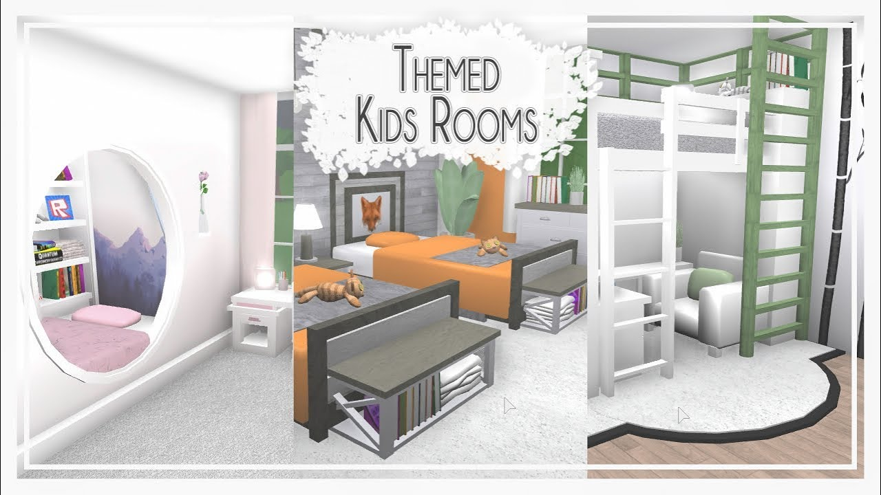 Bloxburg Kids Rooms Themed Room Styles Pt2 Youtube