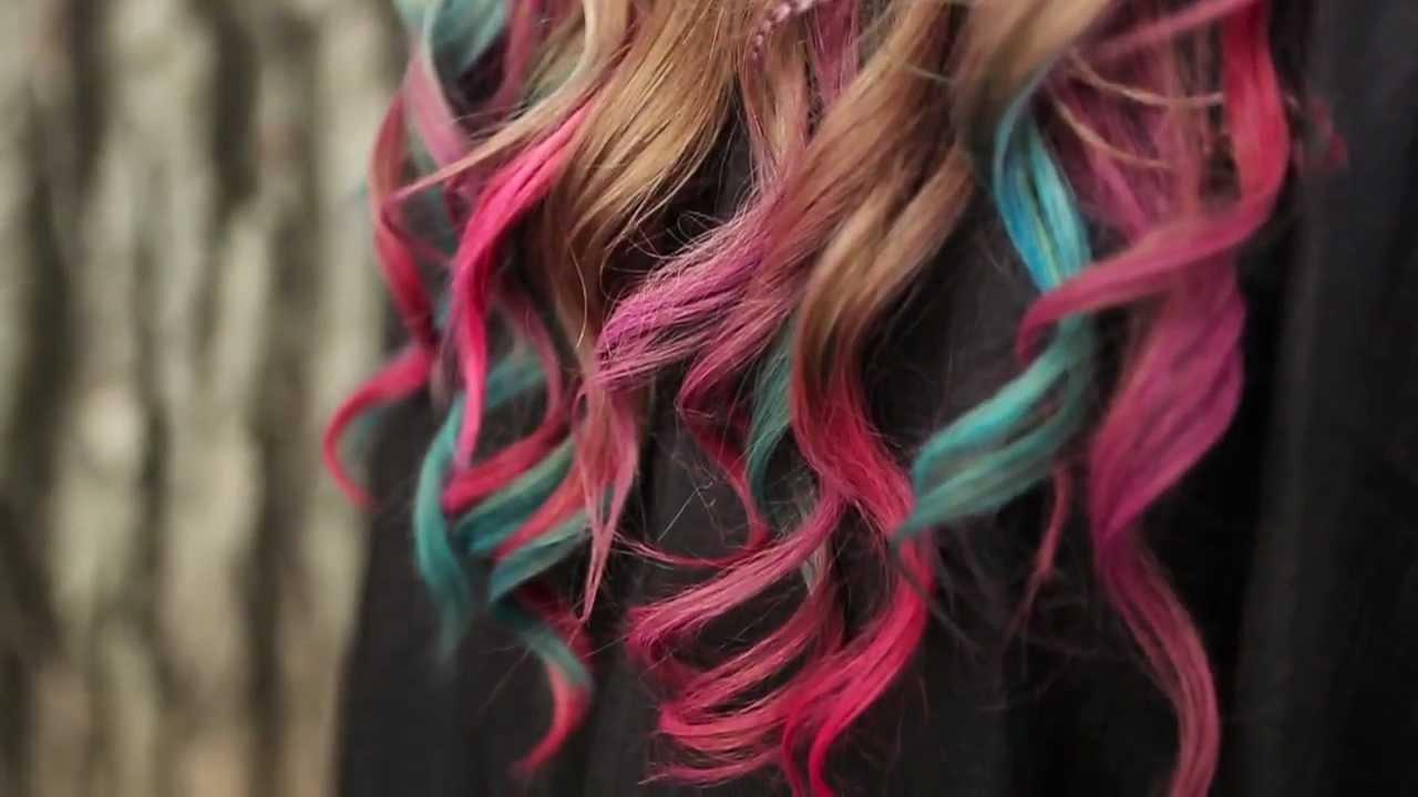 tint hair chalk fine featherheads