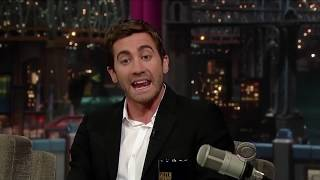 jake gyllenhaal being chaotic on talk shows for 7 minutes straight