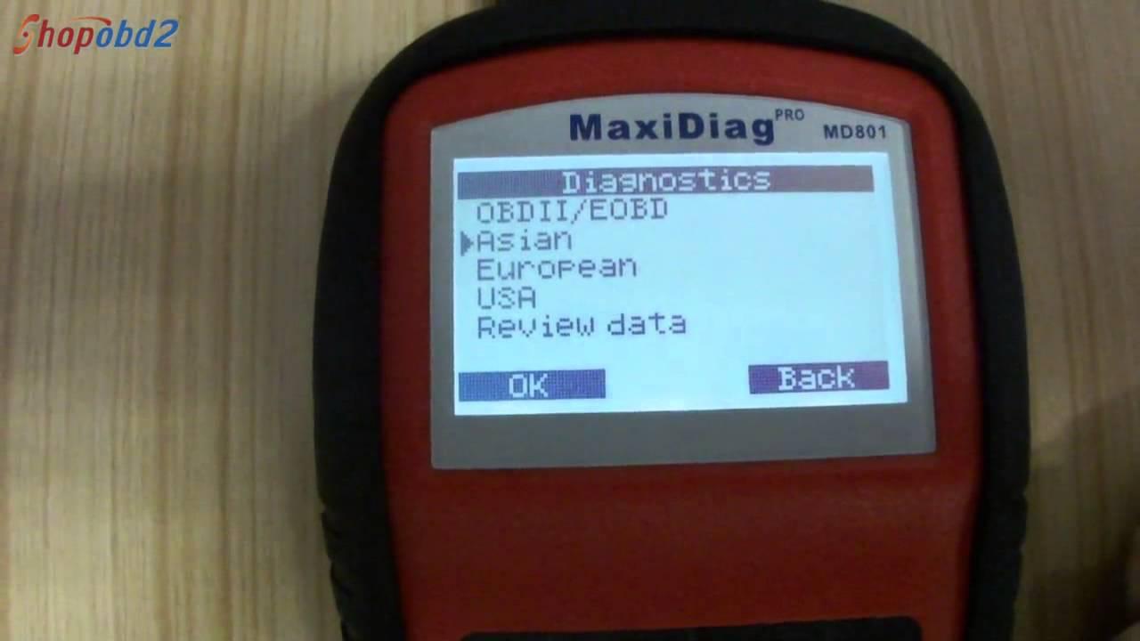 autel maxidiag pro md801 software