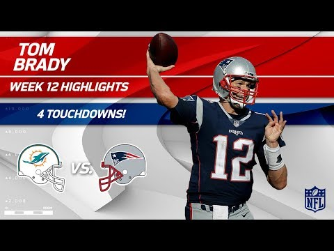 Tom Brady's Big Game w/ 4 TDs vs. Miami! | Dolphins vs. Patriots | Wk 12 Player Highlights