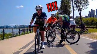 순간적으로 나는 한강길 자전거 사고 (자전거블랙박스)