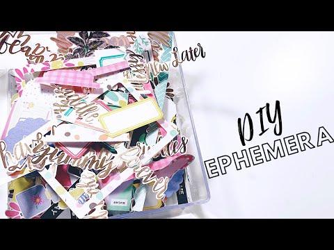 Make Your Own Ephemera Pack | DIY Die Cut Pack | DIY Embellishments