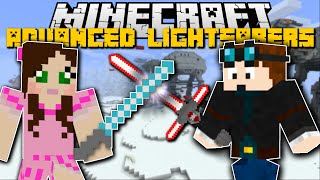 Minecraft STAR WARS ADVANCED LIGHTSABER MOD w/SSUNDEE, DANTDM, POPULARMMOS!!