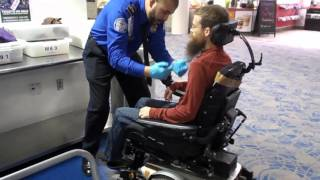Electric Wheelchair TSA security screening airport