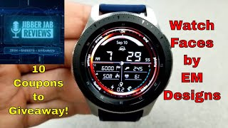 Samsung Galaxy Watch/Gear Watch Faces by EM Designs - 10 Coupons to Giveaway - Jibber Jab Reviews!