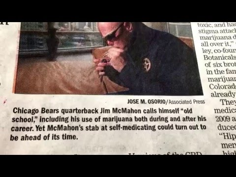 Cannabis for Concussions ?? ~ Chicago Bears QB, Jim McMahon ~ CBDs