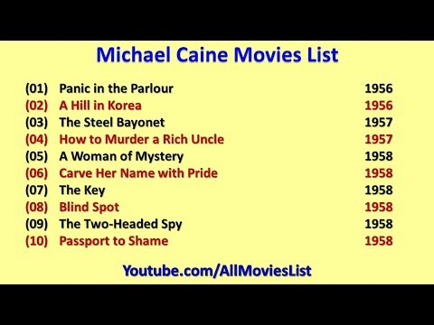Michael Caine Movies List