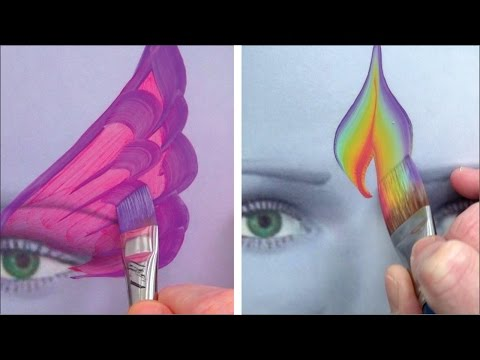 Perfect practice with 5 awesome brushes - Face Painting Made Easy PART 4