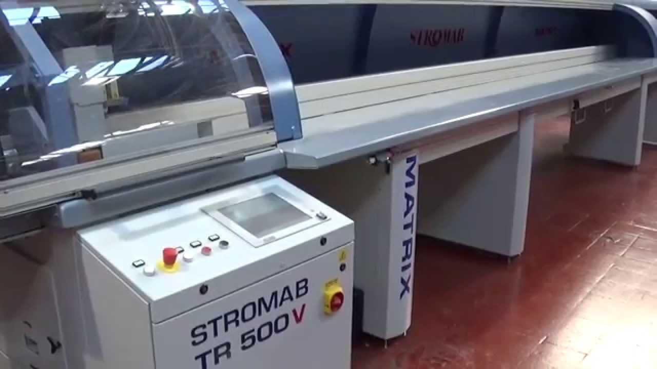 Stromab Matrix Fast500 High Speed Automatic Cross Cut Saw - YouTube