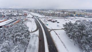 Opady śniegu w Ostrołęce