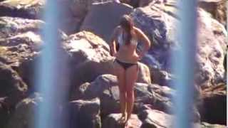 Sexy Bikini Model trying to board an Airbed.Hot Summer Holydays on the Beach 84 Thumbnail