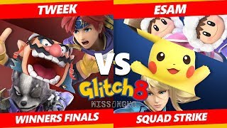Glitch 8 SSBU - TSM I Tweek Vs. PG | ESAM - Smash Ultimate Squad Strike Winners Finals